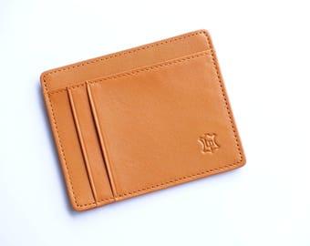Type original leather business card holder wallet