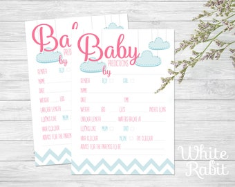 Baby Shower Prediction / Advice Cards pack