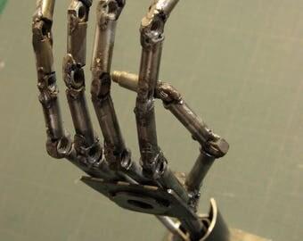 Bras Cyborg Acier - Sculpture main acier