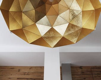 Sun Chandelier Gold 140 Stainless Steel - ADAMLAMP