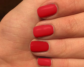 Nail wraps, Red nail wraps, custom colored nails, nail polish wraps, bright red nail wraps, red nail wraps,  red nail wraps