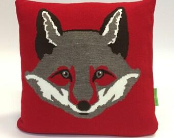 The Quick Brown Fox Pillow - Knit Cushion