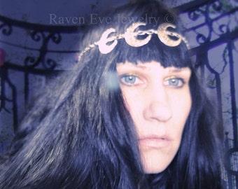 SUPER SALE Triple Moon Headdress Headpiece headband  Elegant Beauty Of A Goddess was