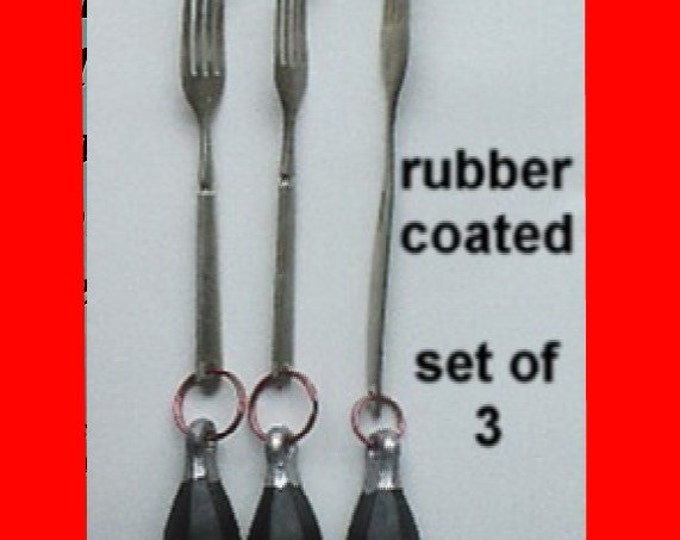 Set of three weights for knitting socks on circular sockknitting machines