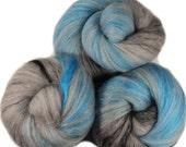 Sting  - classic batts -- (4.3 oz.) organic polwarth wool, bamboo, yak, silk, sparkle.