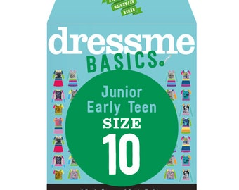 Dressme Basics - Pattern SIZE 10 - 1 Dress and 1 T-shirt - 1000s of possibilities