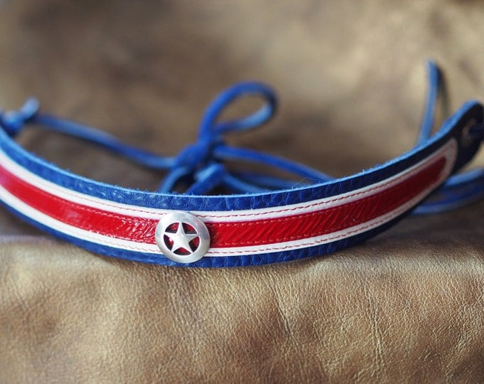 Captain America inspired Hat Band or Choker