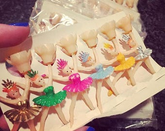 6pcs BALLERINA CANDLE HOLDERS Vintage Miniature Tiny Dancers