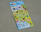 Zoo Birds Puffy Stickers - Decorate Your Planner or Notebook - One Sheet