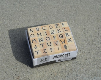 Mini Alphabet Stamps - Wood Mounted - Capital Letters for Planners or Paper Craft