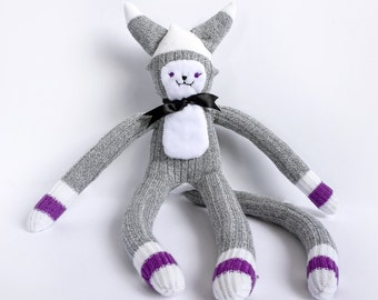 Sock Cat -A doll made from a pair of soft ladies socks