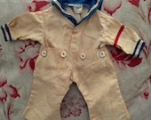 Antique Doll Sailor Suit for Medium Doll