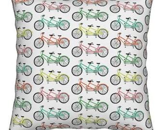 NEW 16x16 multi color tandem bike pillow