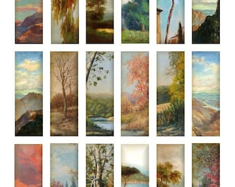 3D Landscape Microscope - 1x3 Inch - Digital Collage Sheet  - Instant Download