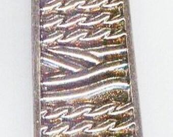 "Fabulous Bright Silver Engraved Bar Pendant 55mm 2 1/4"" 1pc"