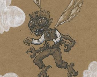 Flight 5x7 Drawing - Baxter Stockman