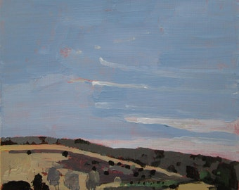 Young Grove, Original Plein Air Autumn Landscape Painting on Panel, Ready to Hang, Stooshinoff