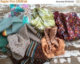 FLASH SALE- Vintage Hair Scarves Bundle-Oodles of Color