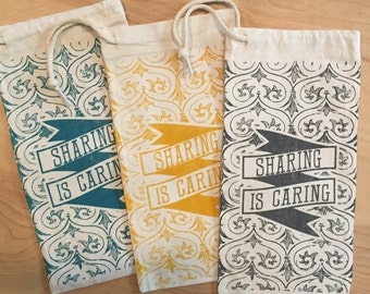 Sharing is Caring Wine Bags
