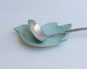 Ceramic Spoon Rest/Plate Slab built bird design plate