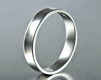 SALE Simple Sterling Silver Ring, Plain Silver Band,