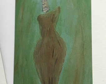 Adorned Regal Splendor- Ethnic Blank Art Card