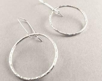 Sterling Silver Shiny Hoop Earrings