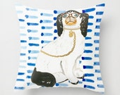 BESPECTACLED ON BLUE Pillow 4 sizes -  (indoor and outdoor fabrics)