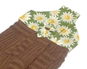 Hanging Kitchen Dish Towel Daisies