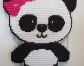 Panda Bear Wall Hanging Plastic Canvas Home Nursery Decoration