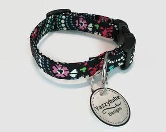 Disney Mickey Mouse Inspired by Vera Bradley Mickey Minnie  Medallion  Dog Collar XS S M L