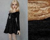 56-60cm BJD Velvet Long Sleeve Skater Dress