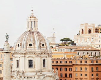 "Rome Photography, Italy Wall Art, City Skyline, Roman Architecture Print, Fine Art Photography, Travel Home Decor ""Roma"""