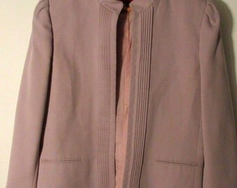 Vintage 80s Sasson Purple Blazer Cropped Jacket Preppy Career Casual Short Coat 8