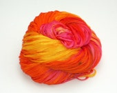Sunrise, Hand Dyed, Hand Painted, Yarn, Ribbon, Pink, Orange, Yellow