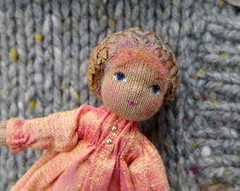 Pink Waldorf  Doll Pin