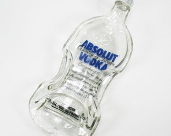 Absolut Vodka Large 1.75 Liter Bottle Molded Serving Tray Spoon Rest with Lid - Recycled Eco-Friendly