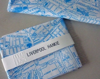 Liverpool city map hankie