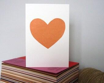 Bold Simple Heart Valentine Card