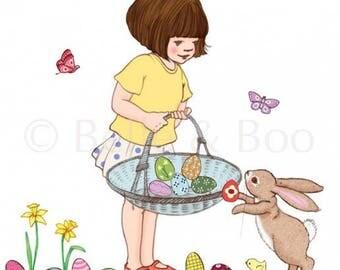 Belle & Boo's Easter Basket Wall Sticker