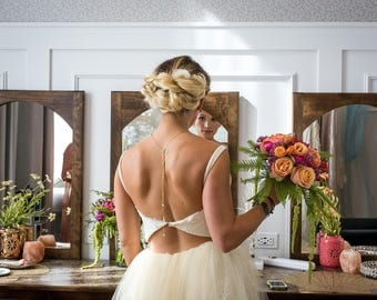 Buttercup Sort Tulle + Lace Eco Gown with Cut-out Back