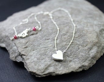 Ruby And Heart Necklace