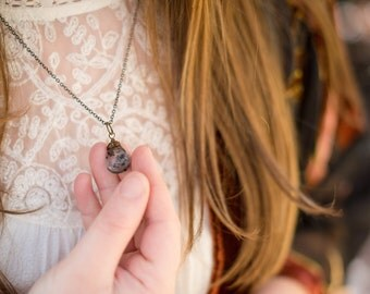 i rise {tourmalinated quartz intention necklace}