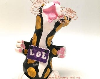 Cat Figurine Calico Kitty Polymer Clay Sculpture LOL Jazzy Made to Order CTP00011
