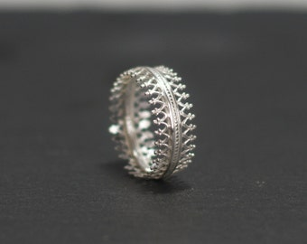 Sterling Silver Crown Ring, Crown Ring, Silver Ring