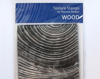 """Texture Stamp """"Wood"""" by Bettina Welker"""