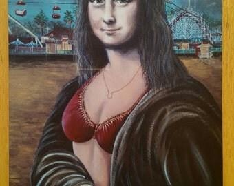 Mona Cruz portrait print on metal