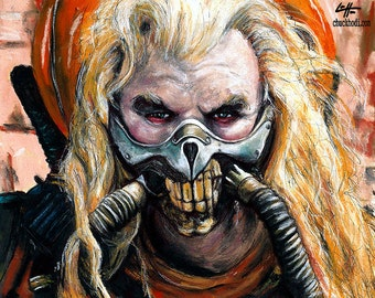 "Print 8x10"" - Immortan Joe - Mad Max Fury Road Colonel Joe Moore Post Apocalypse Dark Art Pop Horror Sci Fi Fantasy Dystopia Lowbrow Desert"