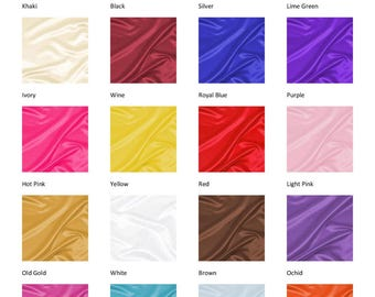 Satin Fitted Crib Sheet - Satin Nursery Items - Satin Baby Items - Satin Bedding - Your Choice of Color