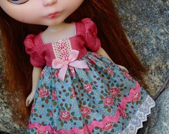 Pink Roses - A Dress for Blythe